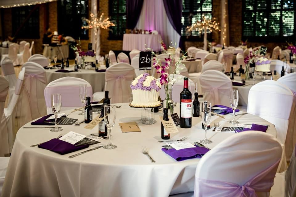 Kirst Hall Wedding Tables Chairs With Wine
