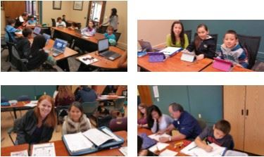 Collage of photos of students at Homework Help