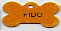 Dog tag with the name Fido