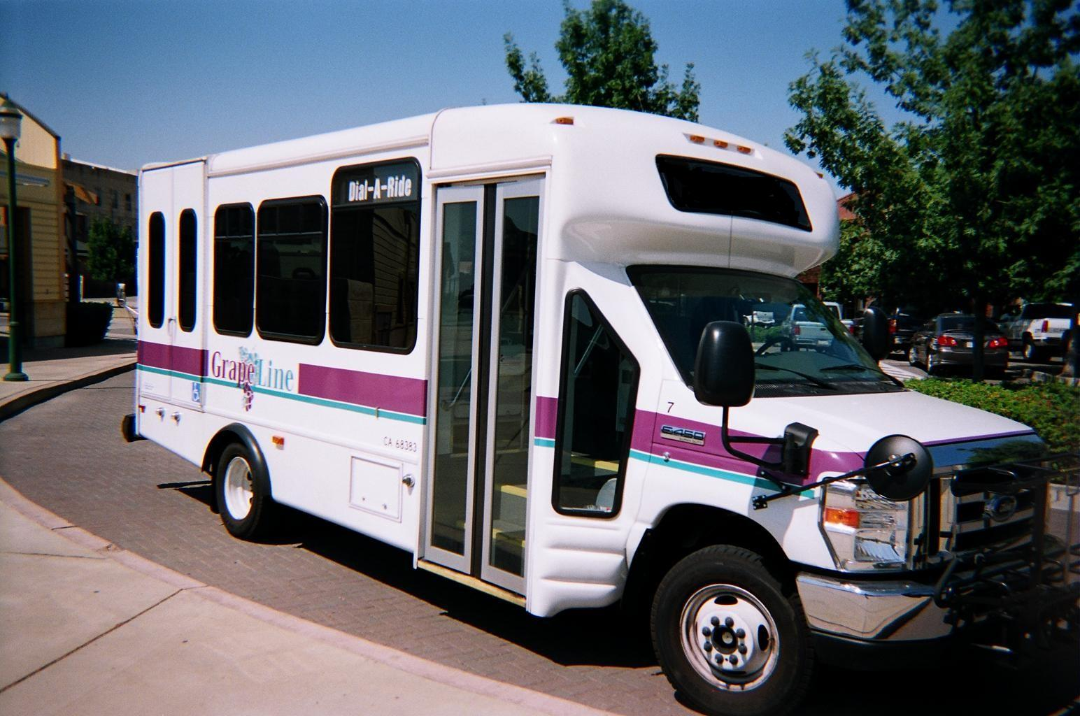Dial-A-Ride bus parking outside