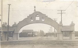 Historic photo of the Mission Arch